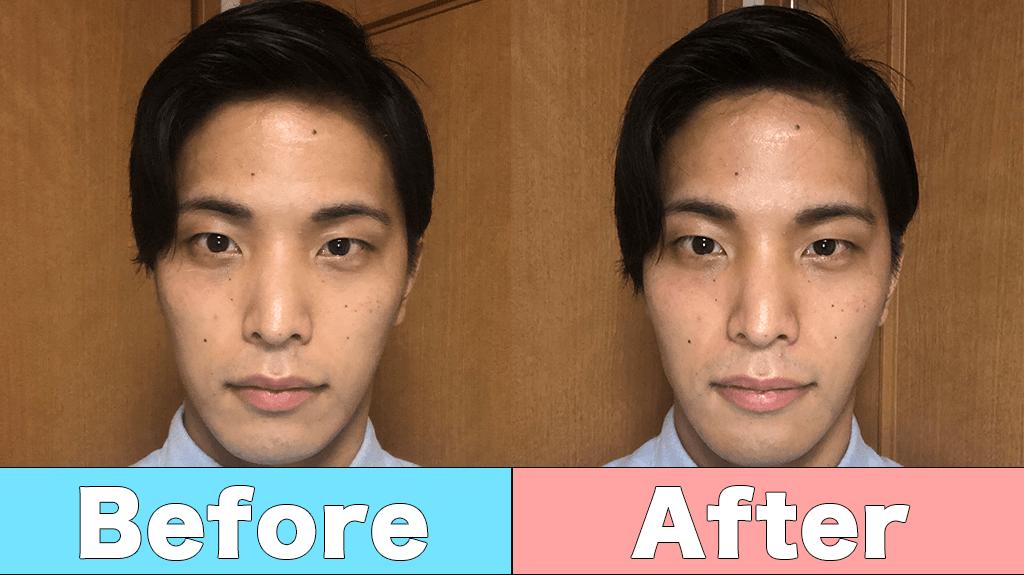 メンズメイクで簡単小顔効果!シェーディングのやり方を徹底解説